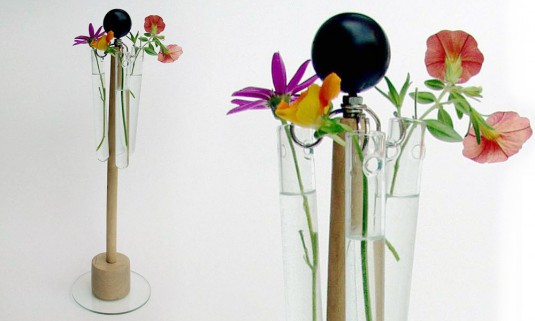 Vase aus Restholz